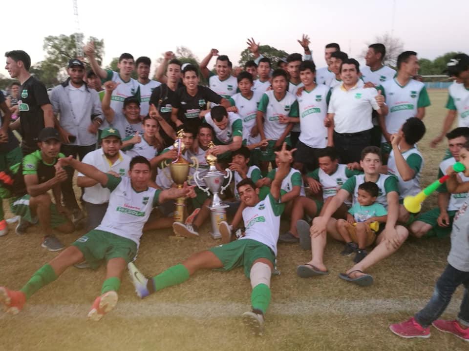 Plantel Sub15 campeón de Boquerón, de la Fase Departamental del Interligas.